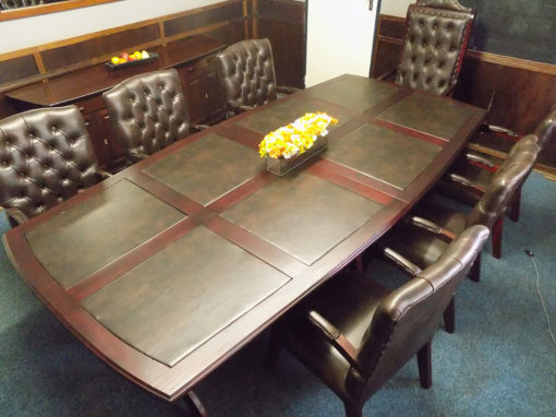 Boardroom Table With Leather Inlay
