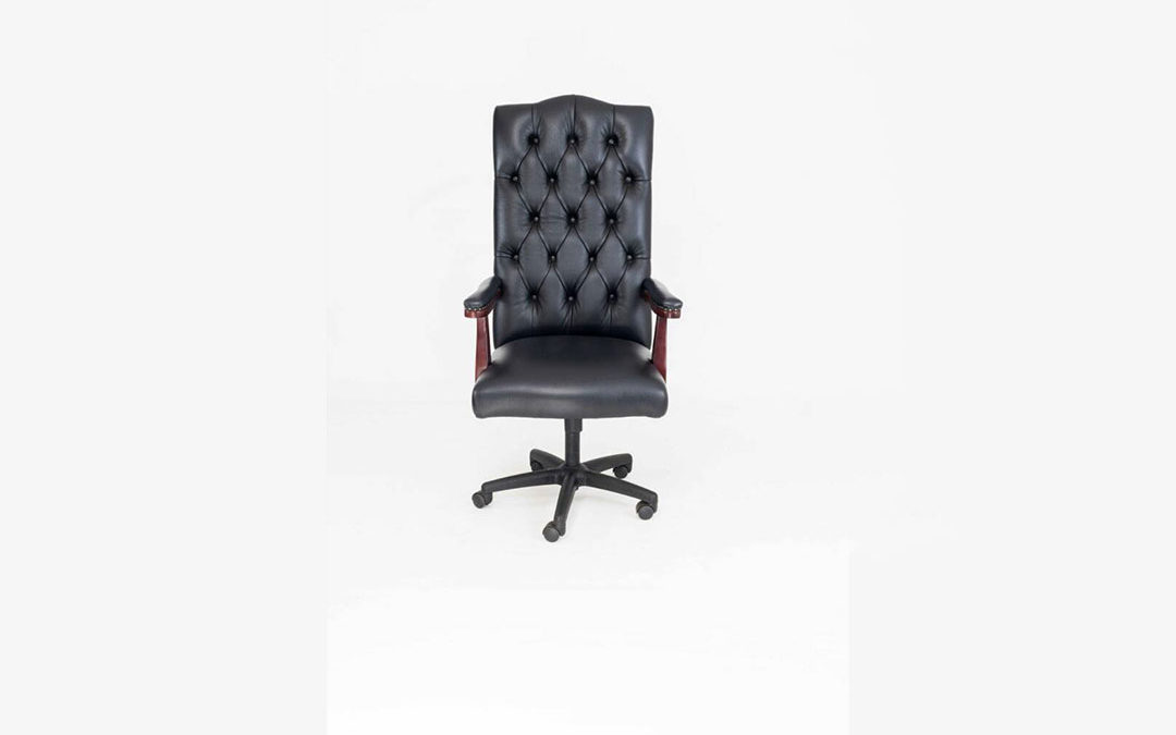 High back Leather Swivel chair