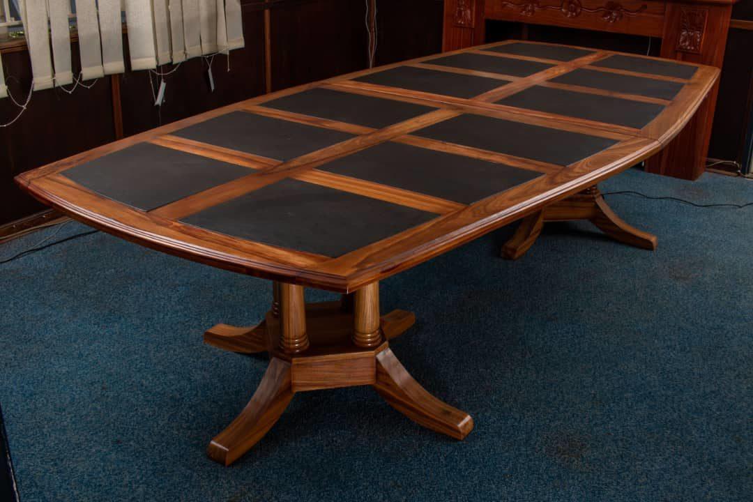 Vintage boardroom table 10 seater